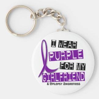 I Wear Purple For My Girlfriend 37 Epilepsy Keychain