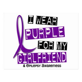 I Wear Purple For My Girlfriend 37 Epilepsy Postcard