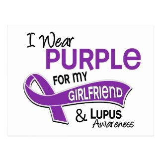 I Wear Purple For My Girlfriend 42 Lupus Postcard