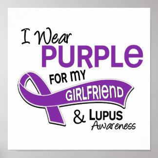I Wear Purple For My Girlfriend 42 Lupus Poster