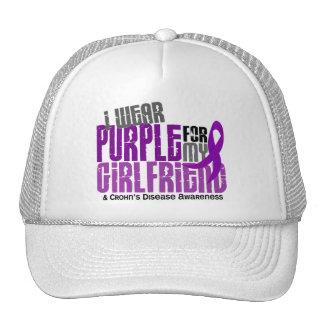 I Wear Purple For My Girlfriend 6 Crohn's Disease Mesh Hat