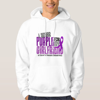I Wear Purple For My Girlfriend 6 Crohn's Disease Hoodie