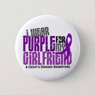 I Wear Purple For My Girlfriend 6 Crohn's Disease Pinback Button