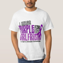 I Wear Purple For My Girlfriend 6 Crohn's Disease T-Shirt