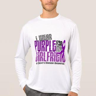 I Wear Purple For My Girlfriend 6 Crohn's Disease Tee Shirt