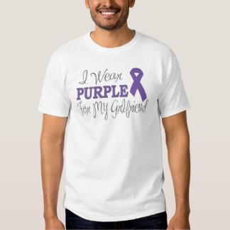 I Wear Purple For My Girlfriend (Purple Ribbon) Tee Shirt