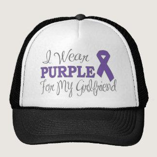 I Wear Purple For My Girlfriend (Purple Ribbon) Trucker Hat