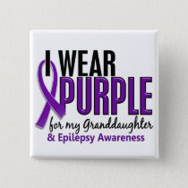 I Wear Purple For My Granddaughter 10 Epilepsy Pinback Button