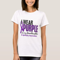 I Wear Purple For My Granddaughter 10 Epilepsy T-Shirt