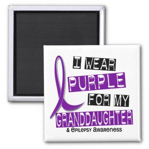 I Wear Purple For My Granddaughter 37 Epilepsy Refrigerator Magnet