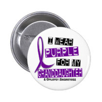 I Wear Purple For My Granddaughter 37 Epilepsy Pinback Button