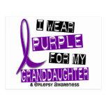I Wear Purple For My Granddaughter 37 Epilepsy Postcard