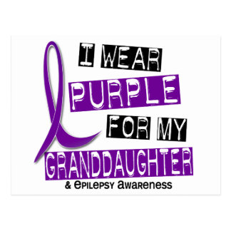 I Wear Purple For My Granddaughter 37 Epilepsy Postcard