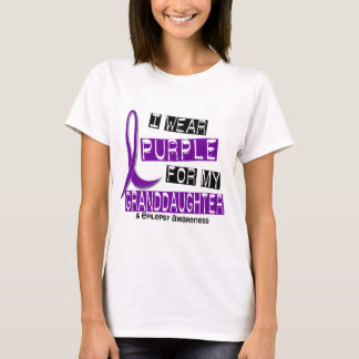 I Wear Purple For My Granddaughter 37 Epilepsy T-Shirt