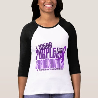 I Wear Purple For My Granddaughter 6 4 Cystic Fibr Tee Shirts