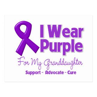 I Wear Purple For My Granddaughter Postcard