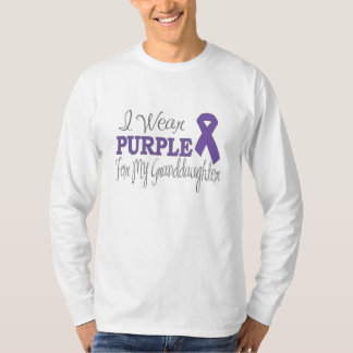 I Wear Purple For My Granddaughter (Purple Ribbon) Tee Shirt