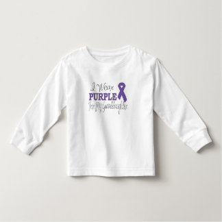 I Wear Purple For My Granddaughter (Purple Ribbon) Toddler T-shirt