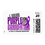 I Wear Purple For My Grandfather 6 Crohn's Disease Stamp