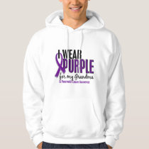 I Wear Purple For My Grandma 10 Pancreatic Cancer Hoodie
