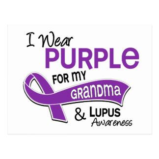 I Wear Purple For My Grandma 42 Lupus Postcard