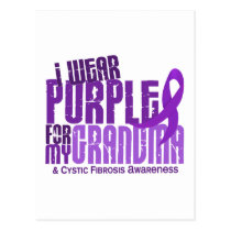 I Wear Purple For My Grandma 6.4 Cystic Fibrosis Postcard