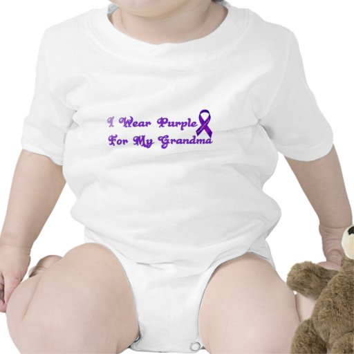 I Wear Purple For My Grandma Bodysuits