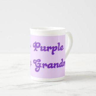 I Wear Purple For My Grandma Bone China Mugs