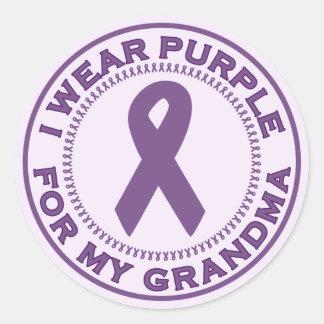 I Wear Purple For My Grandma Classic Round Sticker