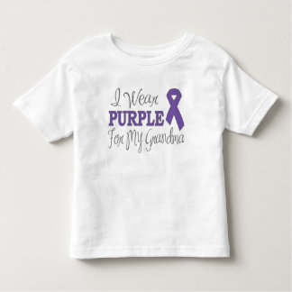 I Wear Purple For My Grandma (Purple Ribbon) Toddler T-shirt