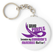 I Wear Purple For My Grandma's Memories 33 Keychain