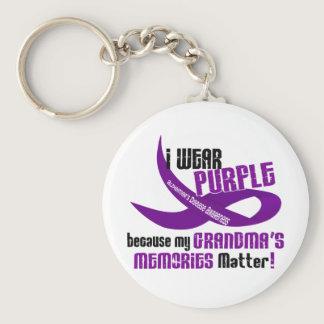 I Wear Purple For My Grandma's Memories 33 Keychain