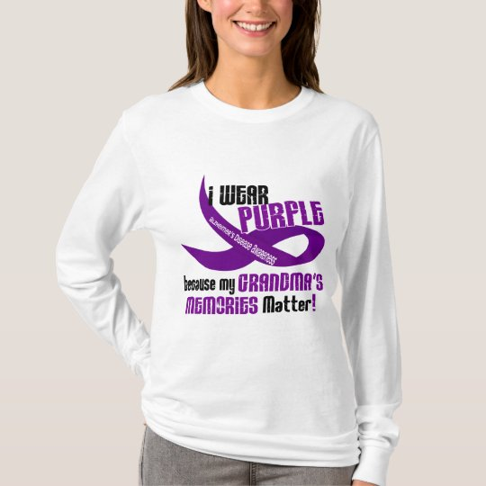 I Wear Purple For My Grandma's Memories 33 T-Shirt