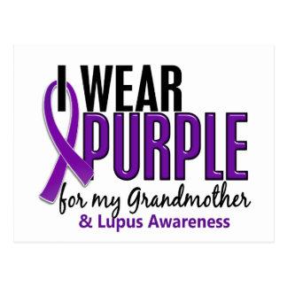 I Wear Purple For My Grandmother 10 Lupus Postcard