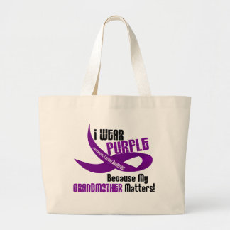 I Wear Purple For My Grandmother 33 T-Shirts Large Tote Bag