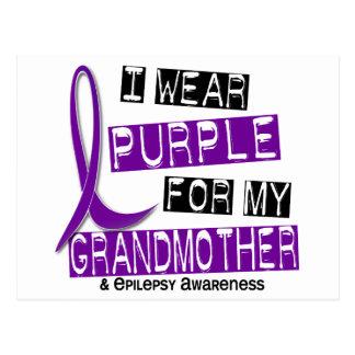 I Wear Purple For My Grandmother 37 Epilepsy Postcard