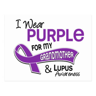I Wear Purple For My Grandmother 42 Lupus Postcard