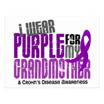 I Wear Purple For My Grandmother 6 Crohn's Disease Postcard