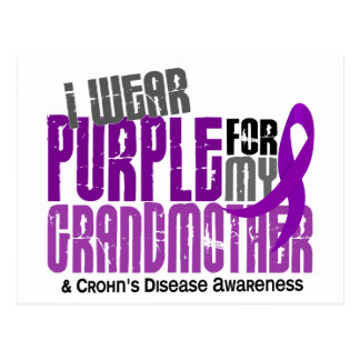 I Wear Purple For My Grandmother 6 Crohn's Disease Post Cards