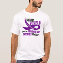 I Wear Purple For My Grandmother's Memories 33 T-Shirt