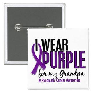 I Wear Purple For My Grandpa 10 Pancreatic Cancer Pin