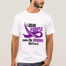 I Wear Purple For My Grandpa 33 PANCREATIC CANCER T-Shirt