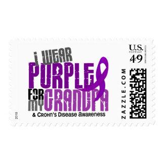 I Wear Purple For My Grandpa 6 Crohn's Disease Stamp