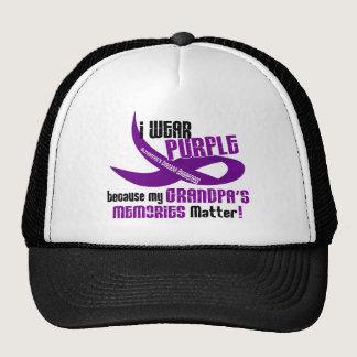 I Wear Purple For My Grandpa's Memories 33 Trucker Hat