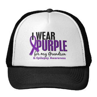 I Wear Purple For My Grandson 10 Epilepsy Trucker Hat
