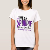 I Wear Purple For My Grandson 10 Epilepsy T-Shirt
