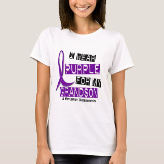 I Wear Purple For My Grandson 37 Epilepsy T-Shirt