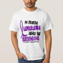 I Wear Purple For My Grandson 37 Epilepsy T-Shirt