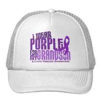 I Wear Purple For My Grandson 6 4 Cystic Fibrosis Trucker Hat