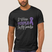 I Wear Purple For My Grandson (Purple Ribbon) T-Shirt
